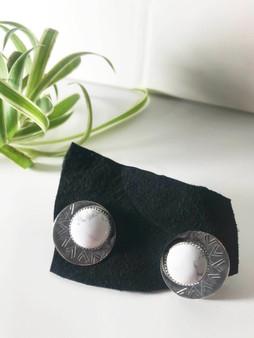 Howlite Stud Earrings