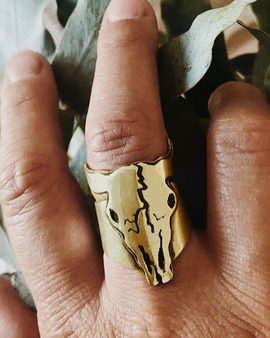 Spirit Guide Skull Ring - Bronze