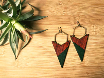 Arrow and Hexagon Earring