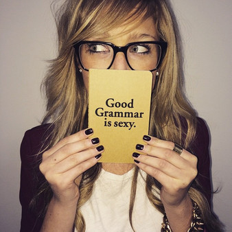 """Good grammar is sexy."" notebook"