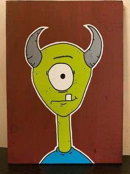 Untitled (green monster) - Original Art