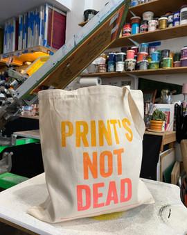 Print's Not Dead Totebag