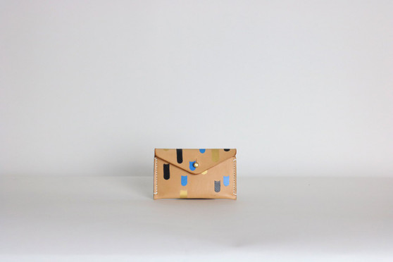 Simple Wallet: One Pocket - Hand-Painted