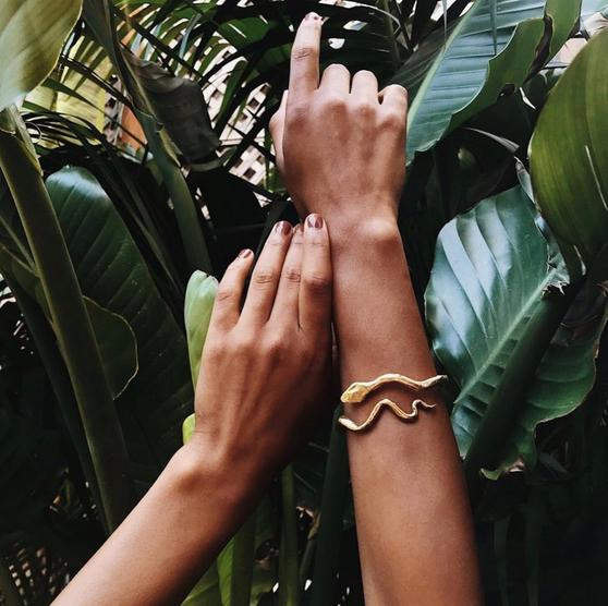 Serpiente Bangle - Bronze