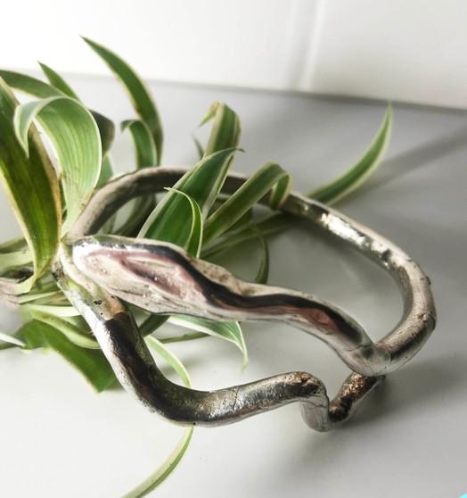 Serpiente Bangle - Silver