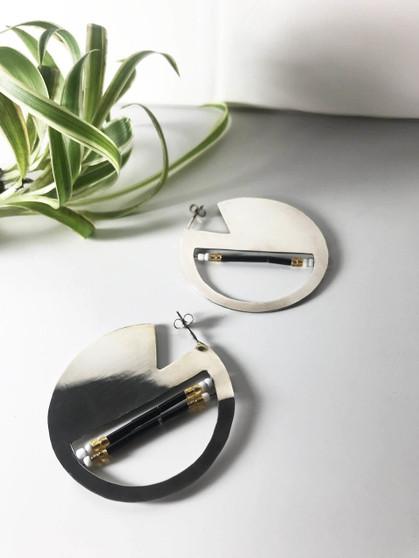 Silver Half Moon Earrings