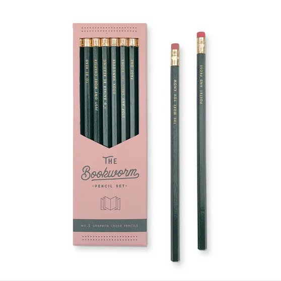 The Bookworm Pencil Set