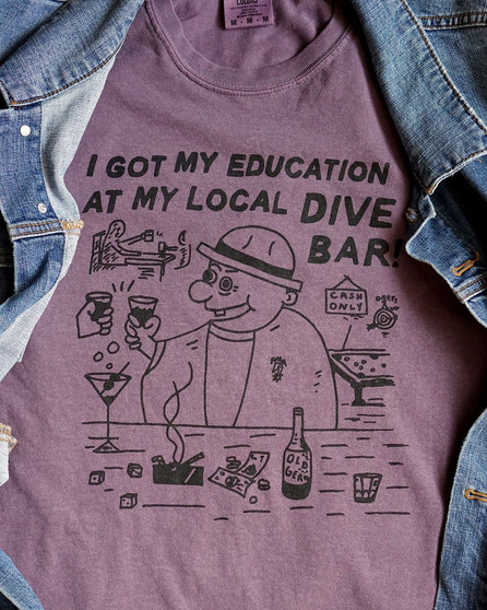 Dive Bar Tee by Heavy Slime