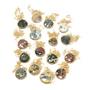 Ocean Jasper Gold Edge Necklace