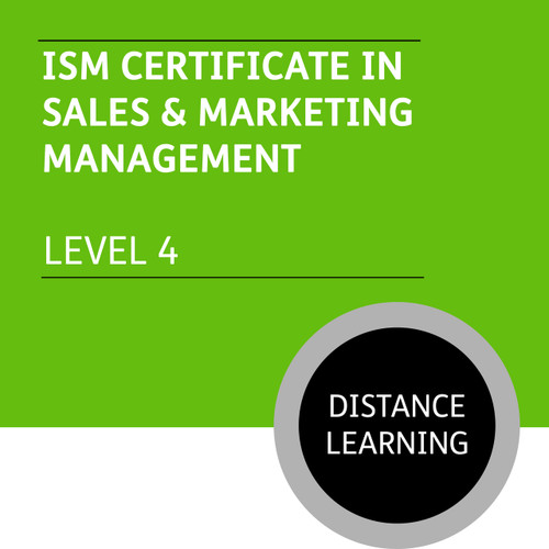 ISM Certificate in Sales and Marketing Management (Level 4) - Distance Learning/Lite