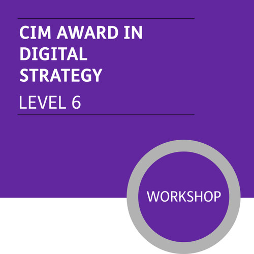 CIM Diploma in Professional Marketing (Level 6) - Digital Strategy Module - Premium/Workshops - CI