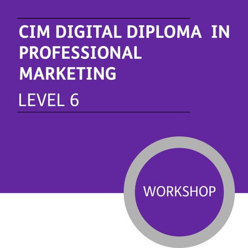 CIM Digital Diploma in Professional Marketing (Level 6) - Premium/Workshops - CI
