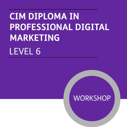 CIM Diploma in Professional Digital Marketing (Level 6) - Premium/Workshops