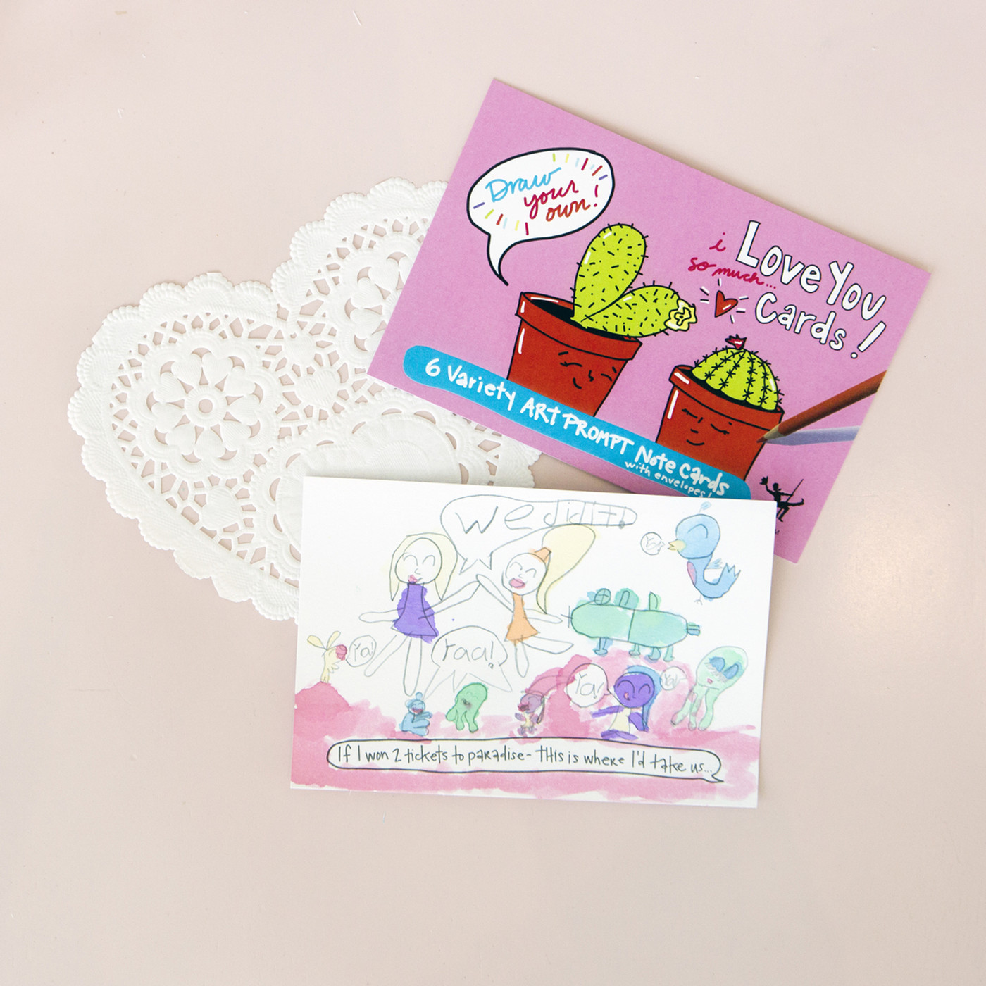 Love You Cards   Draw Your Own (6-Variety)