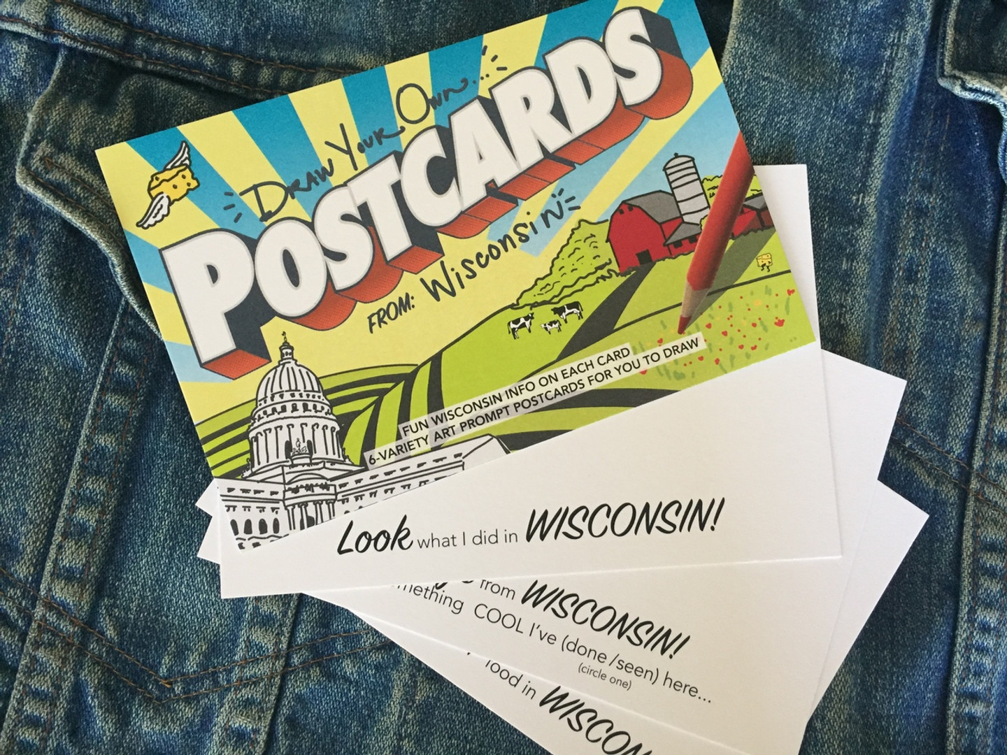 Wisconsin POSTcards | Draw Your Own (6-Variety)