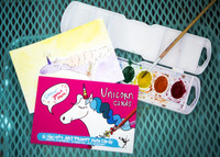 Unicorn Cards | Draw Your Own (6-Variety / Includes 1 Birthday + 1 Thank You)