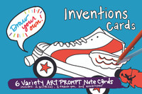 Inventions Cards | Draw Your Own (6-Variety / Includes 1 Birthday + 1 Thank You)