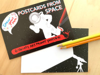 SPACE DOODLE POSTCARD | Draw Your Own (6-Variety)