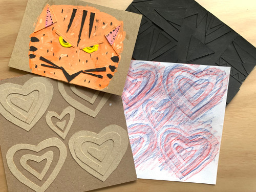 ART PLAY TUTORIAL: 2-in1 Cardboard Collage & Rubbing Plate