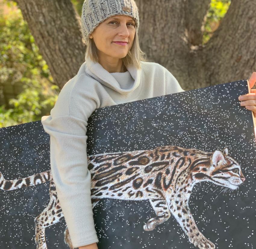 Endangered Ocelot Art Helps RAWA