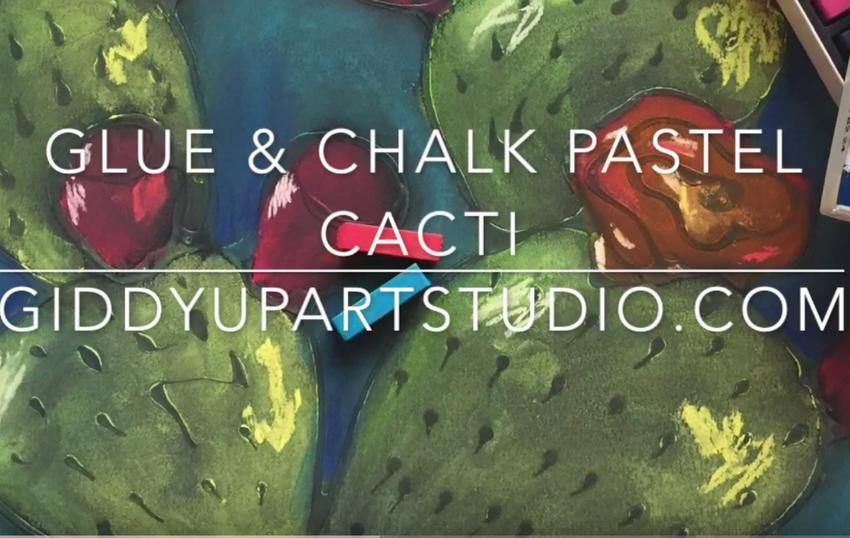 How to: Glue & Chalk Pastel Cacti