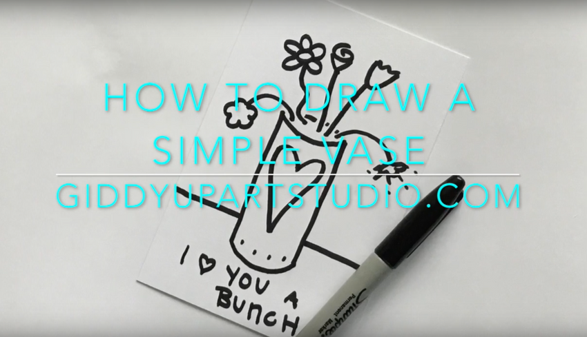 BASIC- How to: Draw Vase with Flowers