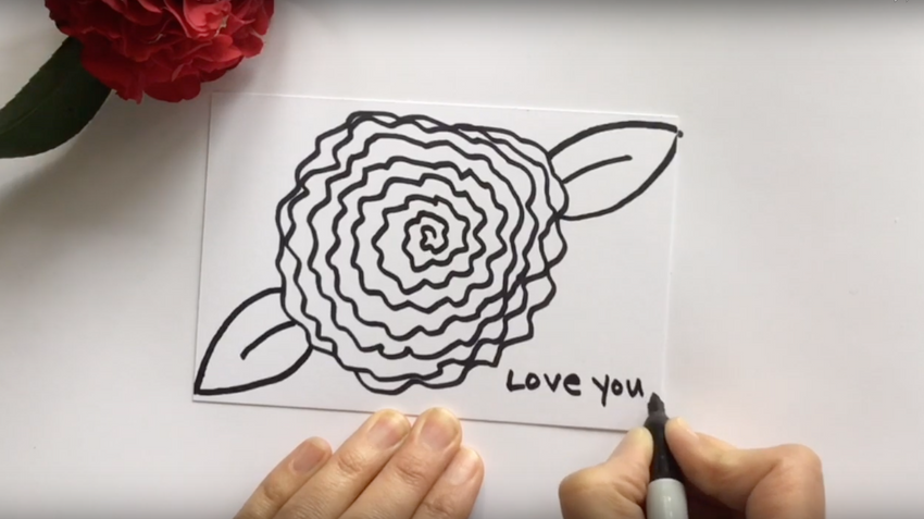 BASIC- How to Draw a Camellia Flower