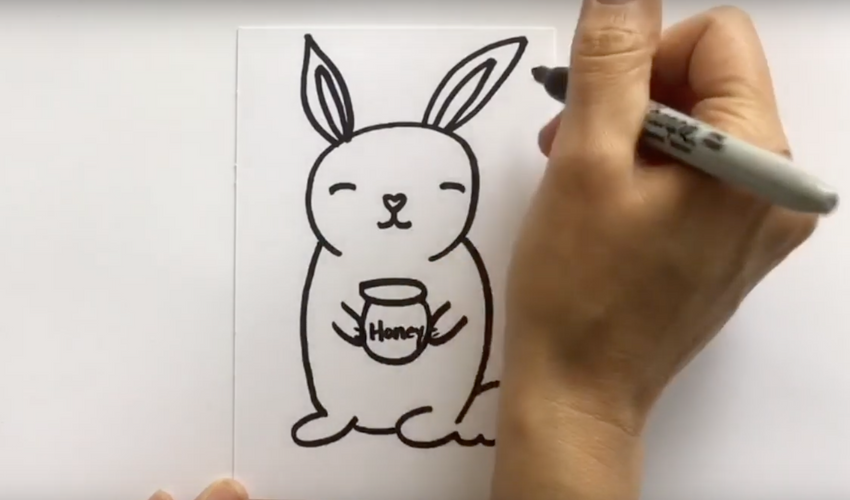 EASY: How to Draw a Honey Bunny!