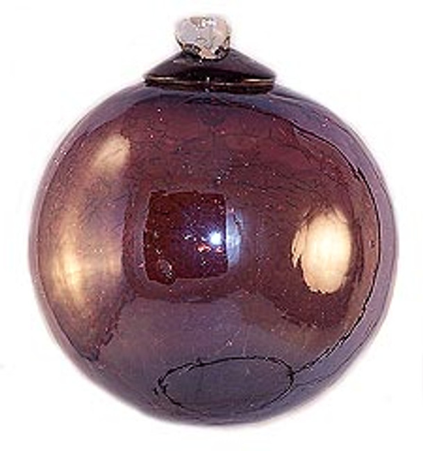 Iridescent Transparent Amethyst Crackle