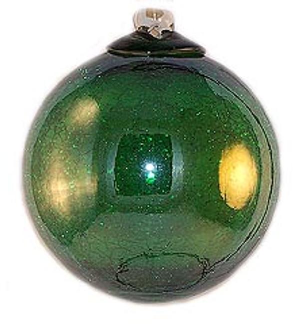 Iridescent Transparent Green Crackle