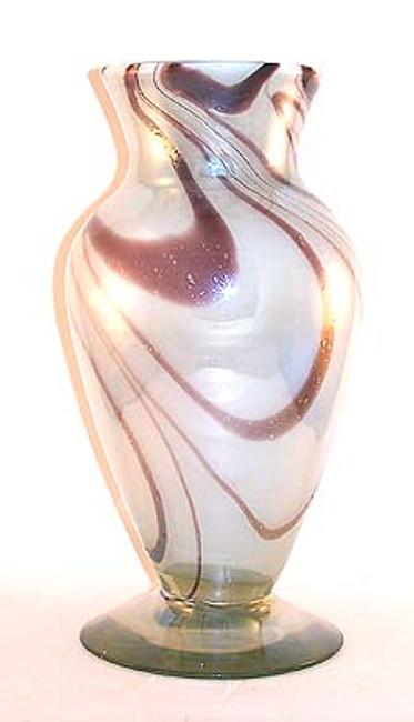 Pearl White / Amethyst Flower Vase