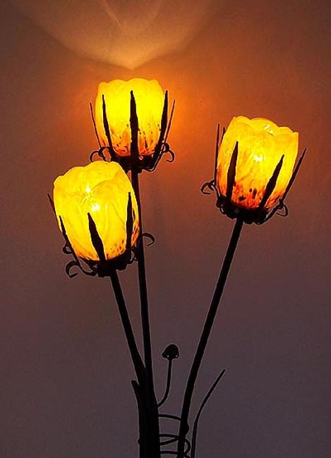 Sun Rise Magnolia Lamp