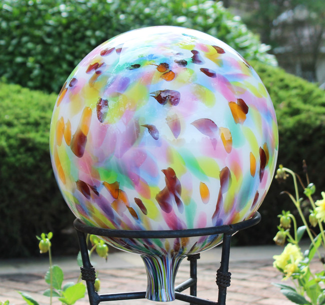 """Multi-Color"" Over Opal Gazing Ball"