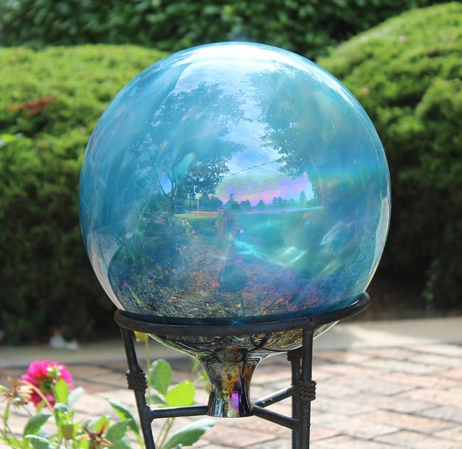 """Sea Green"" Over Opal Gazing Ball"