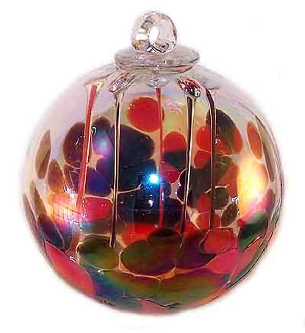 Medusa Spirit Ball, Coral Red & Opal Black