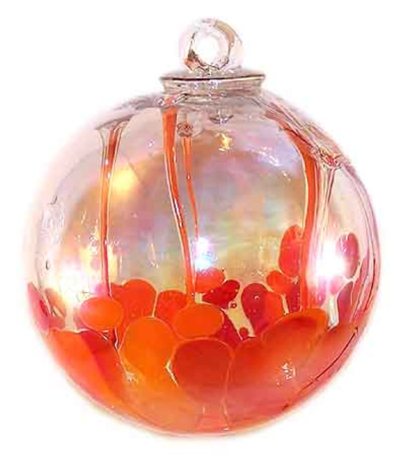 Medusa Spirit Ball, Opal Orange & Coral Red