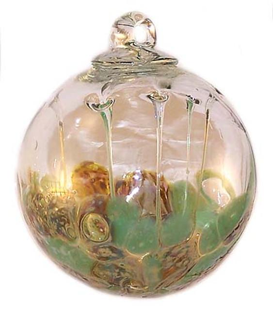 Medusa Spirit Ball, Pale Green & Old Gold