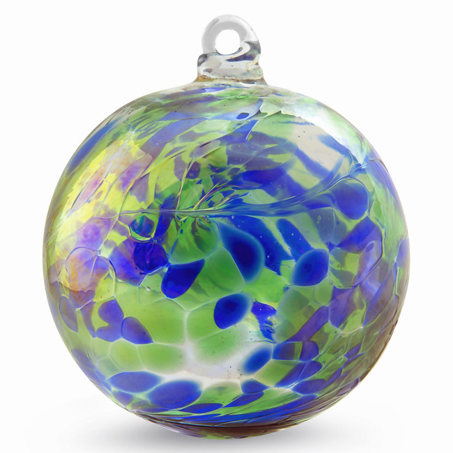 Cobalt Blue / Moss Green Twist Iridized 4 Inch