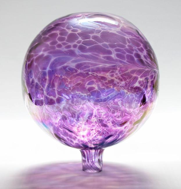 "Glass Gazing Ball ""Violet Blue"" 12 Inch"