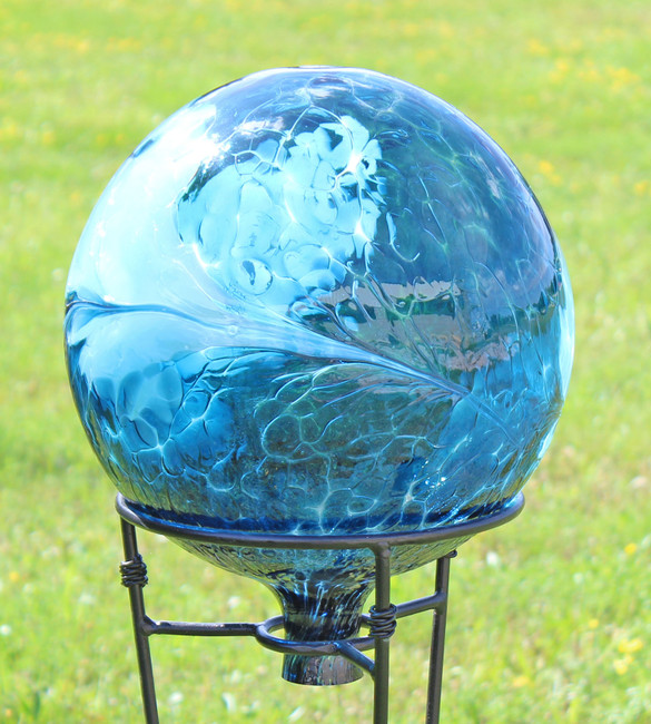 "Glass Gazing Ball ""Sea Green"" 12 Inch"