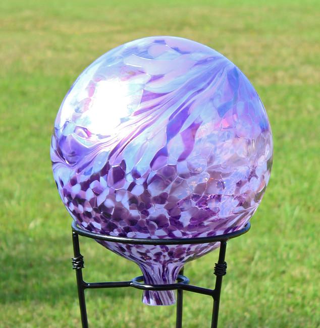 """Garden Gazing Ball """"Lavender Lilly"""" 12 Inch"""