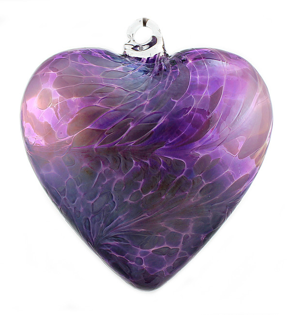 "Large Heart ""Violet and Lavender"" Iridized"