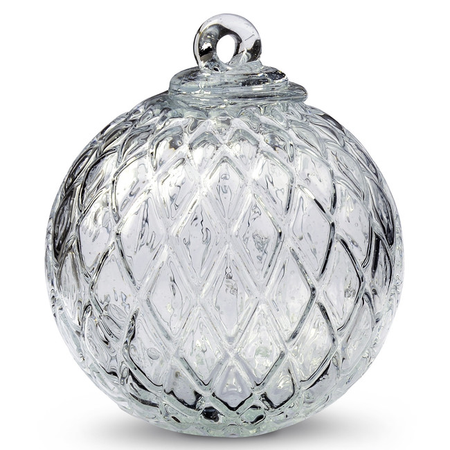 Diamond Optic Friendship Ball, Clear Iridized (4 inch)