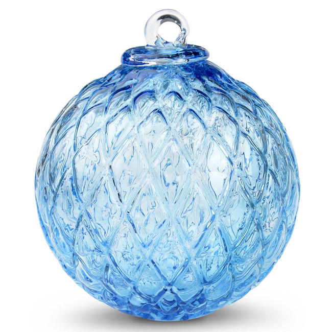 Diamond Optic Friendship Ball, Copper Blue (4 inch)