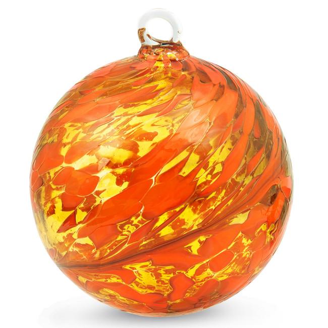 Orange & Yellow 4 Inch Kugel (Sun)