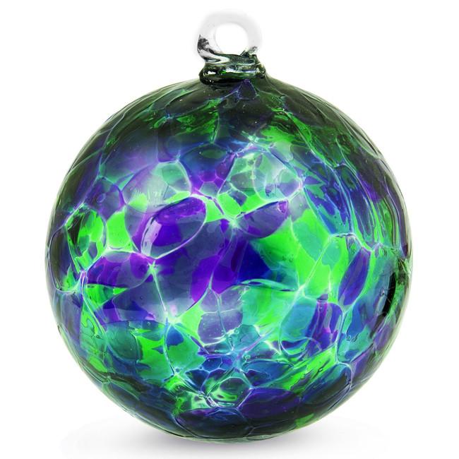 Purple, Green & Blue 4 Inch Kugel