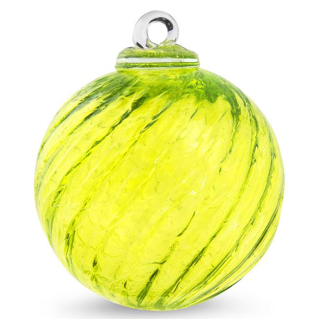 Lemon Yellow Optic 4 Inch Kugel