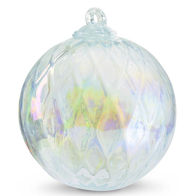 Diamond Optic Friendship Ball, Clear Iridized (6 inch)