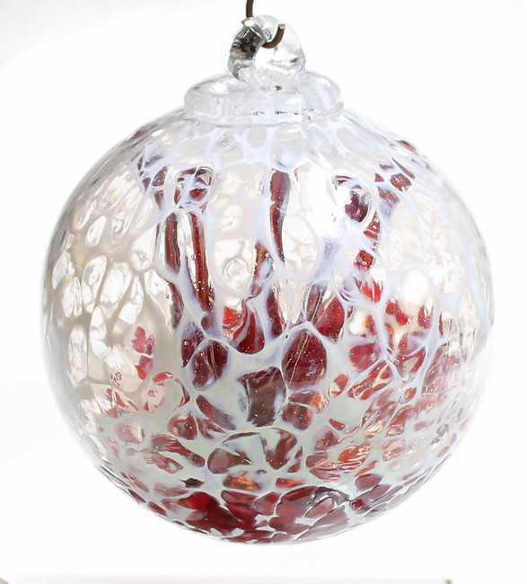 "Veiled Witch Ball ""Cherry"""