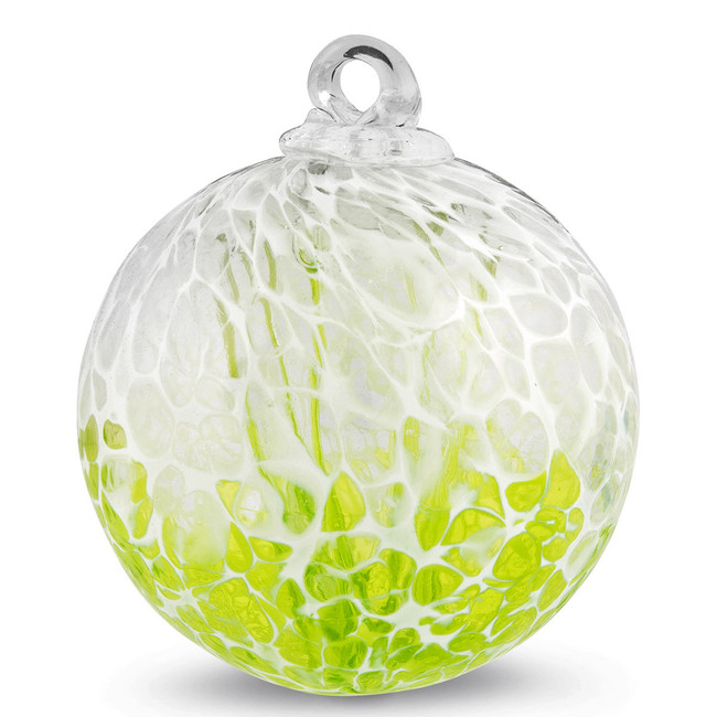 "Veiled Witch Ball ""Reseda Green"""